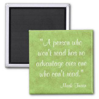 Mark Twain Quote Fridge Magnet