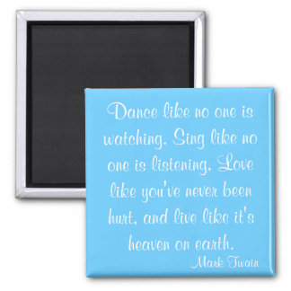 Mark Twain Quote Square Magnet