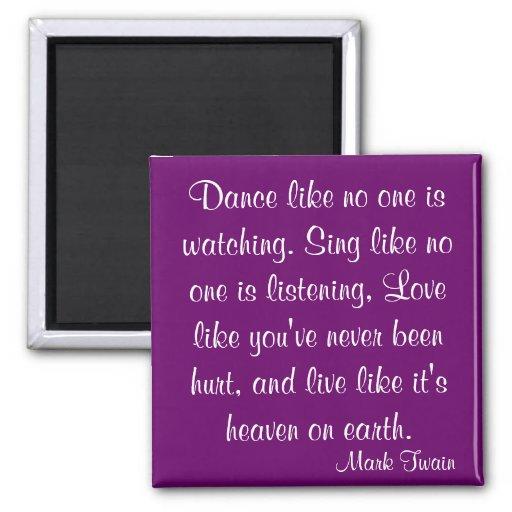 Mark Twain Quote Refrigerator Magnet