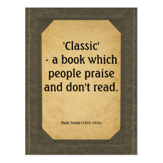 Mark Twain quote on books Postcard