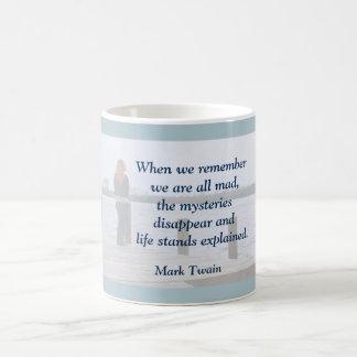 Mark Twain - quote on mug