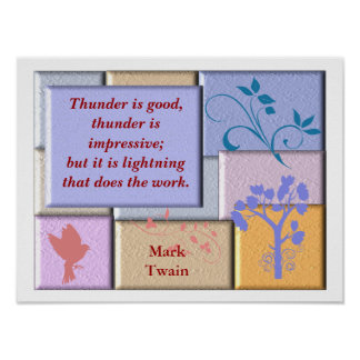 Mark Twain - quote poster