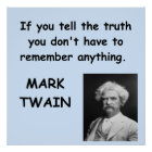 Mark Twain quote Poster