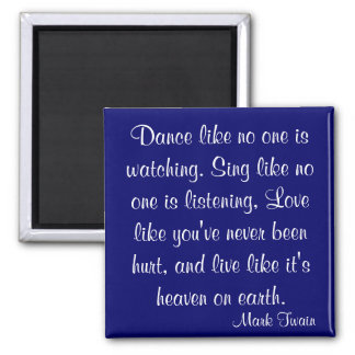 Mark Twain Quote Square Magnet