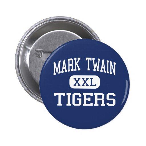 Mark Twain - Tigers - High - Center Missouri Buttons