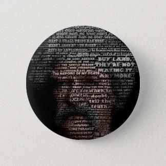 Mark Twain (TypeFace) 6 Cm Round Badge