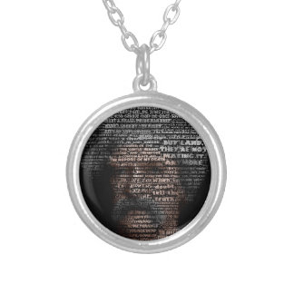 Mark Twain (TypeFace) Silver Plated Necklace