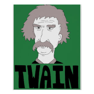 Mark Twain wall poster