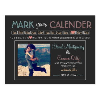 """""""Mark your Calender"""" Save the Date Postcard"""