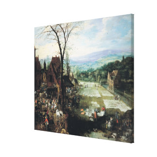 Market and Bleaching Ground, 1620-22 Stretched Canvas Prints