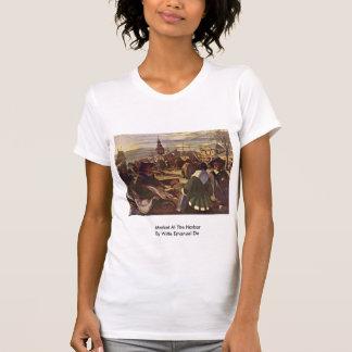 Market At The Harbor By Witte Emanuel De T Shirts