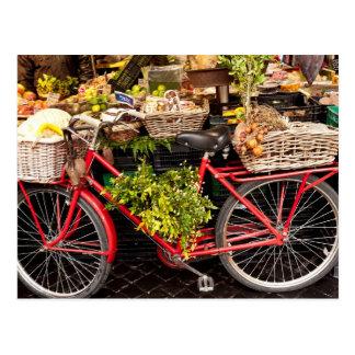 Market Bicycle Postcard