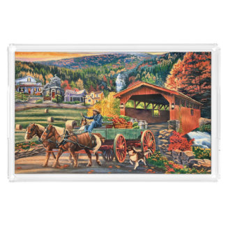 Market Day Autumn Harverst Acrylic Tray