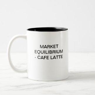 MARKET EQUILIBRIUM - CAFFE LATTE Two-Tone MUG