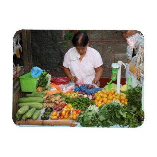 Market Rectangular Photo Magnet