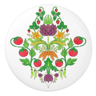 Market Fresh Damask Ceramic Knob