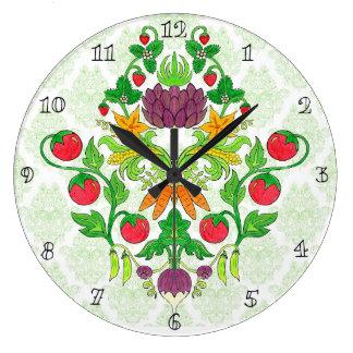 Market Fresh Damask Large Clock