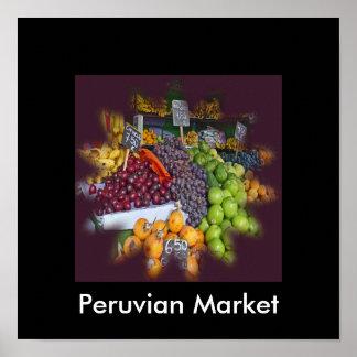 Market Fruit Stall in Peruvian Mercado Poster