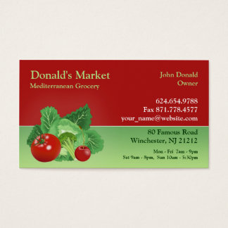 Market / Grocery Business Card
