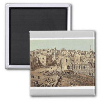 Market Place, Bethlehem, Holy Land, (i.e., West Ba Magnet