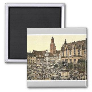 Market place, Breslau, Silesia, Germany (i.e., Wro Square Magnet