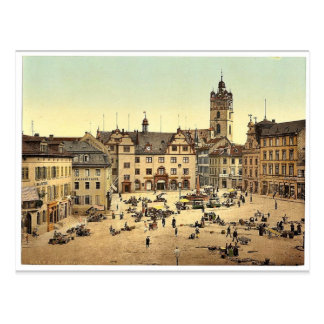 Market place Darmstadt the Rhine Germany magnif Postcard