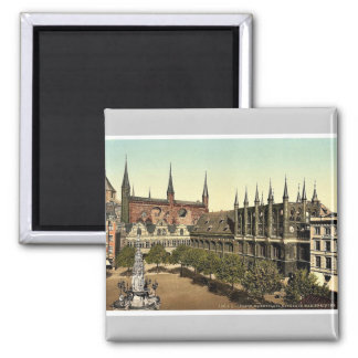 Market Place I., Lubeck, Germany magnificent Photo Square Magnet