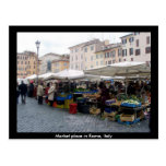 Market Place in Rome, Italy Postcard