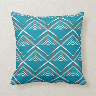 Market Pyramid-Blue Cushion