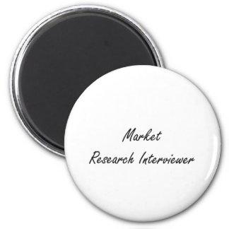 Market Research Interviewer Artistic Job Design 2 Inch Round Magnet