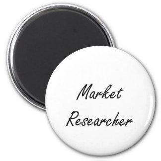 Market Researcher Artistic Job Design 2 Inch Round Magnet