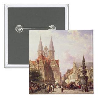 Market Scene at Braunschweig Buttons