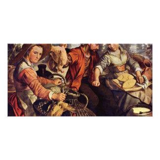 Market Scene By Beuckelaer Joachim (Best Quality) Customised Photo Card
