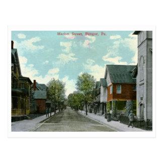 Market St., Bangor, PA Vintage Postcard