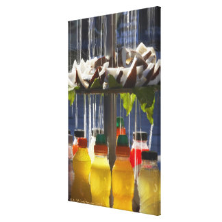 Market stall in Florence, Italy Stretched Canvas Prints