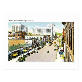Market Street, Chattanooga, Tennessee Postcard
