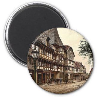 Market Street, Goslar, Hartz, Germany magnificent 6 Cm Round Magnet