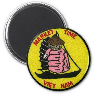 Market Time Vietnam Magnet