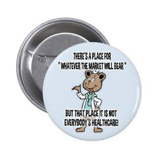Market Will Bear 6 Cm Round Badge