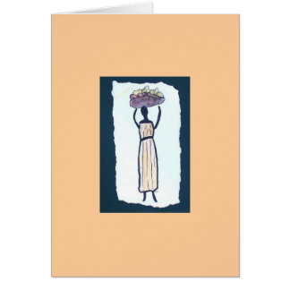Market Woman Blank Note Card