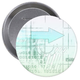 Marketing Business Strategy as a Abstract Concept 10 Cm Round Badge