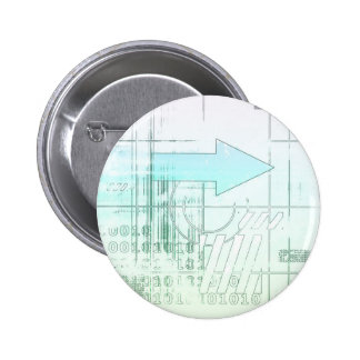 Marketing Business Strategy as a Abstract Concept 6 Cm Round Badge