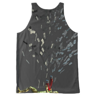Marketing Concept with Businessman All-Over Print Singlet