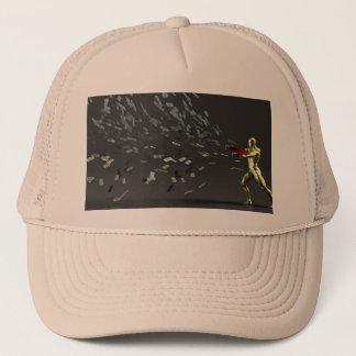 Marketing Concept with Businessman Trucker Hat