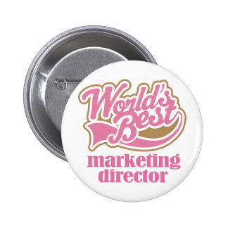 Marketing Director Pink Gift Pinback Button
