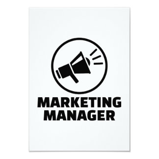 Marketing manager 9 cm x 13 cm invitation card