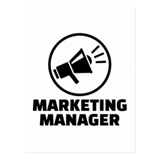 Marketing manager postcard