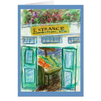 Marketplace Entrance Card