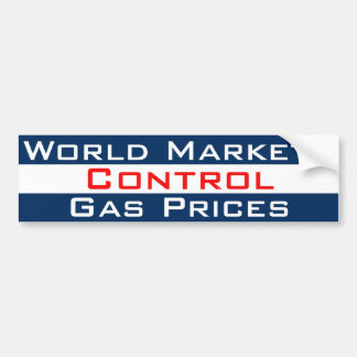 Markets Control Gas Bumper Sticker