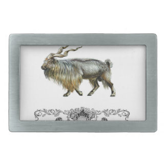 Markhor power rectangular belt buckle